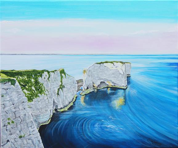 Old Harry -in the early morning sun. (Small)